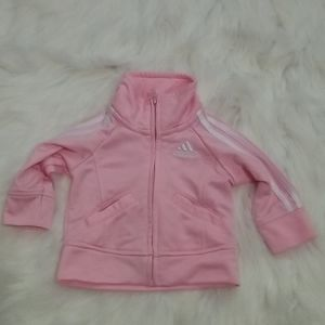 💗 Adidas baby pink full zip jacket 3m